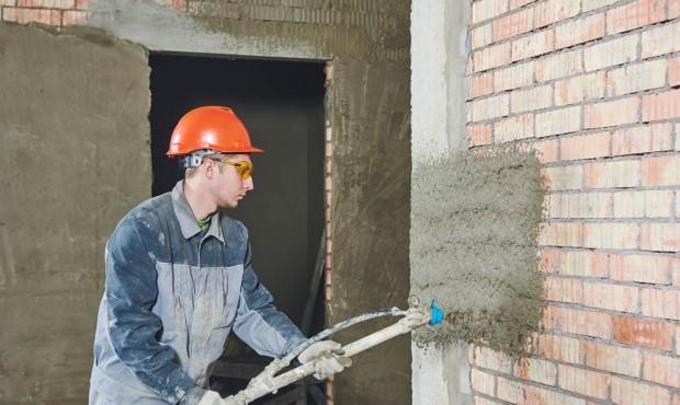 Машинная штукатурка стен и потолков под покраску